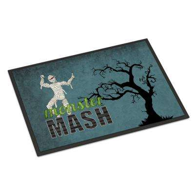 18 in. x 27 in. Indoor/Outdoor Monster Mash with Mummy Halloween Door Mat