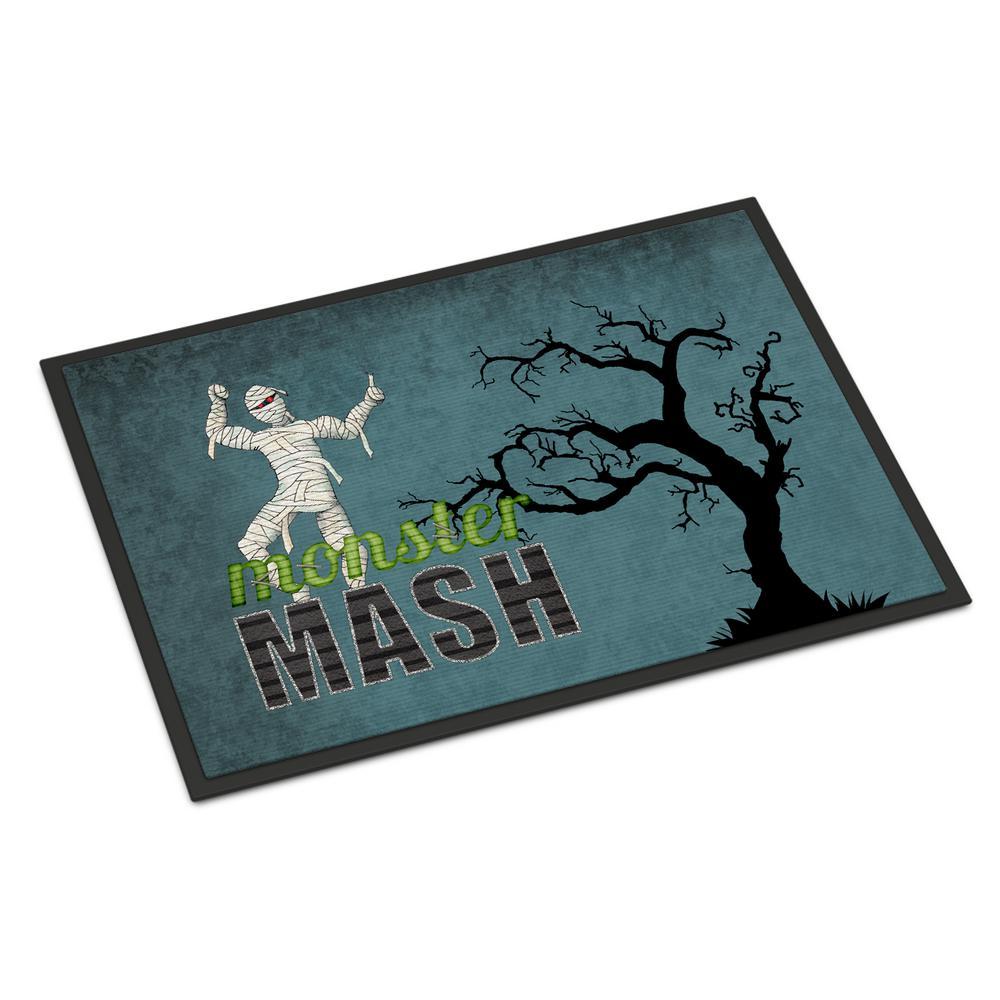 18 in. x 27 in. Indoor/Outdoor Monster Mash with Mummy Halloween Door Mat
