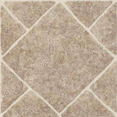 Diamond Limestone Umber 12 in. x 12 in. Residential Peel and Stick Vinyl Tile Flooring (45 sq. ft. / case)
