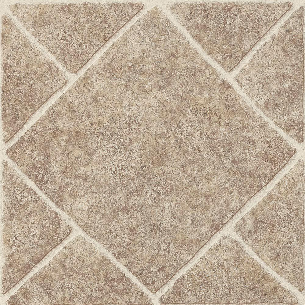 Diamond Limestone Umber 12 in. x 12 in. Residential Peel and