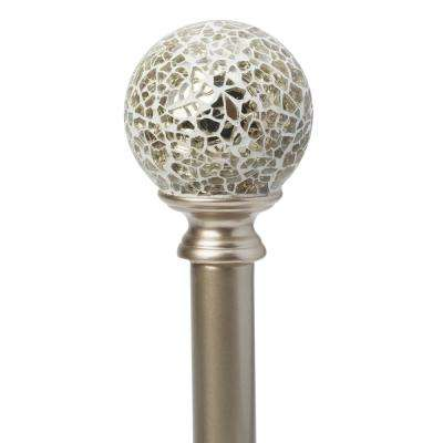 Tavolara 28 in. to 48 in. Adjustable Single Curtain Rod Set