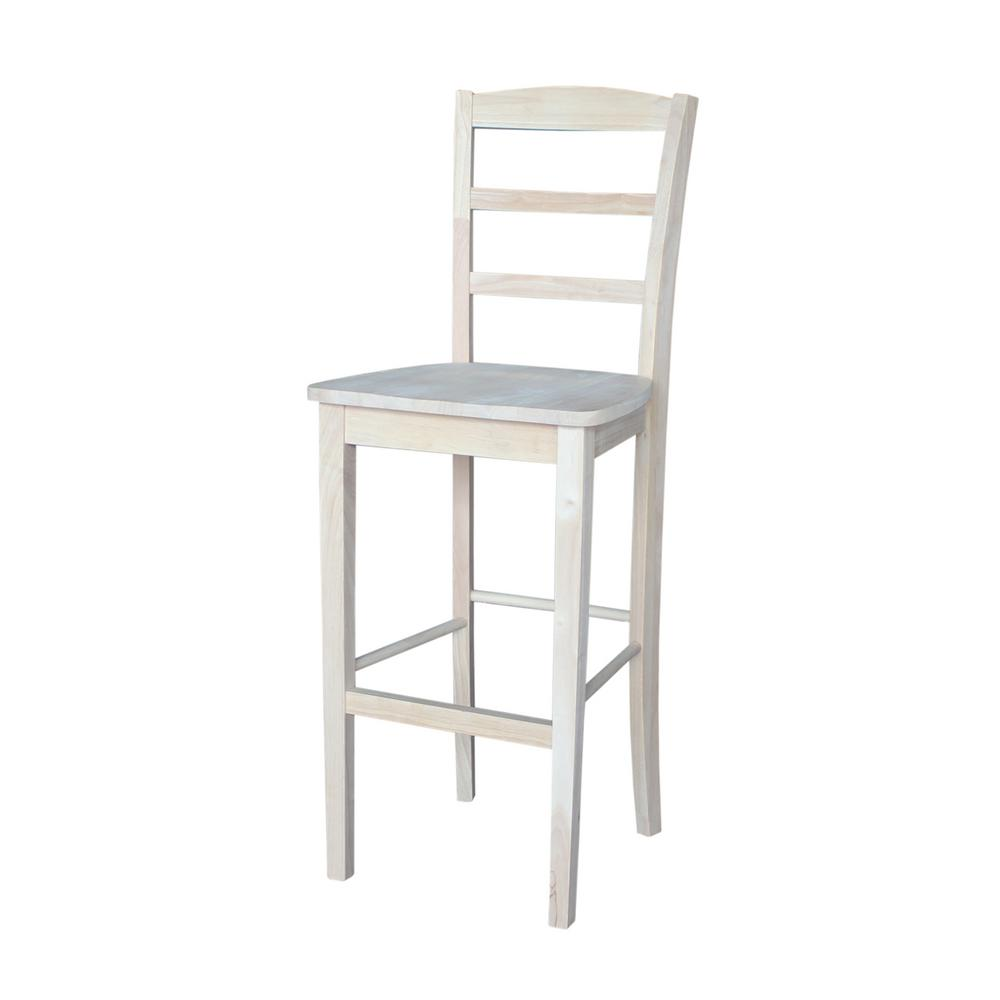 International Concepts 30 In Unfinished Wood Bar Stool S 403 The