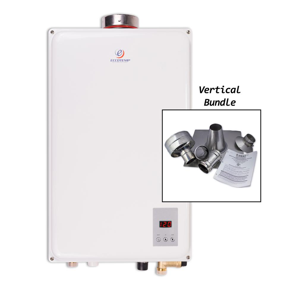 45hi lp gas tankless water heater vertical bundle 45hi lpv the home depot. Black Bedroom Furniture Sets. Home Design Ideas