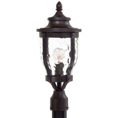 1-Light Outdoor Corona Bronze Post Lantern