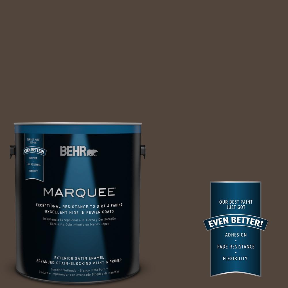 BEHR MARQUEE 1-gal. #ECC-12-3 Shadow Wood Satin Enamel Exterior Paint