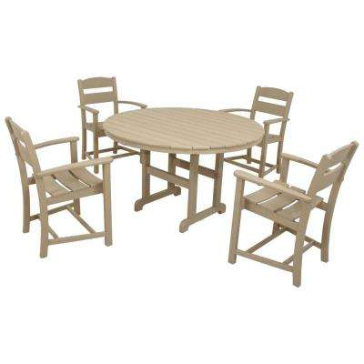Clics Sand 5 Piece Plastic Outdoor Patio Dining Set