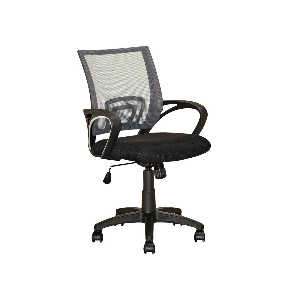 Workspace Black and Dark Grey Mesh Back Office Chair