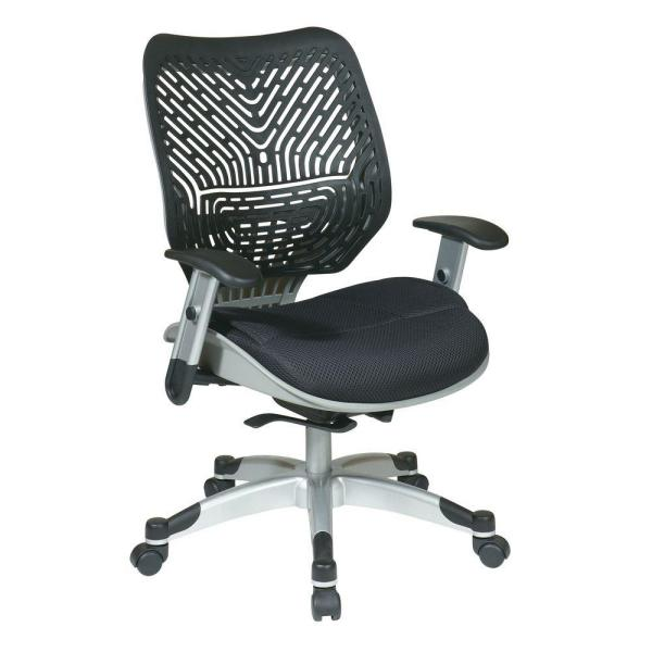 Revv Black and Grey SpaceFlex Self Adjusting Manager Office Chair