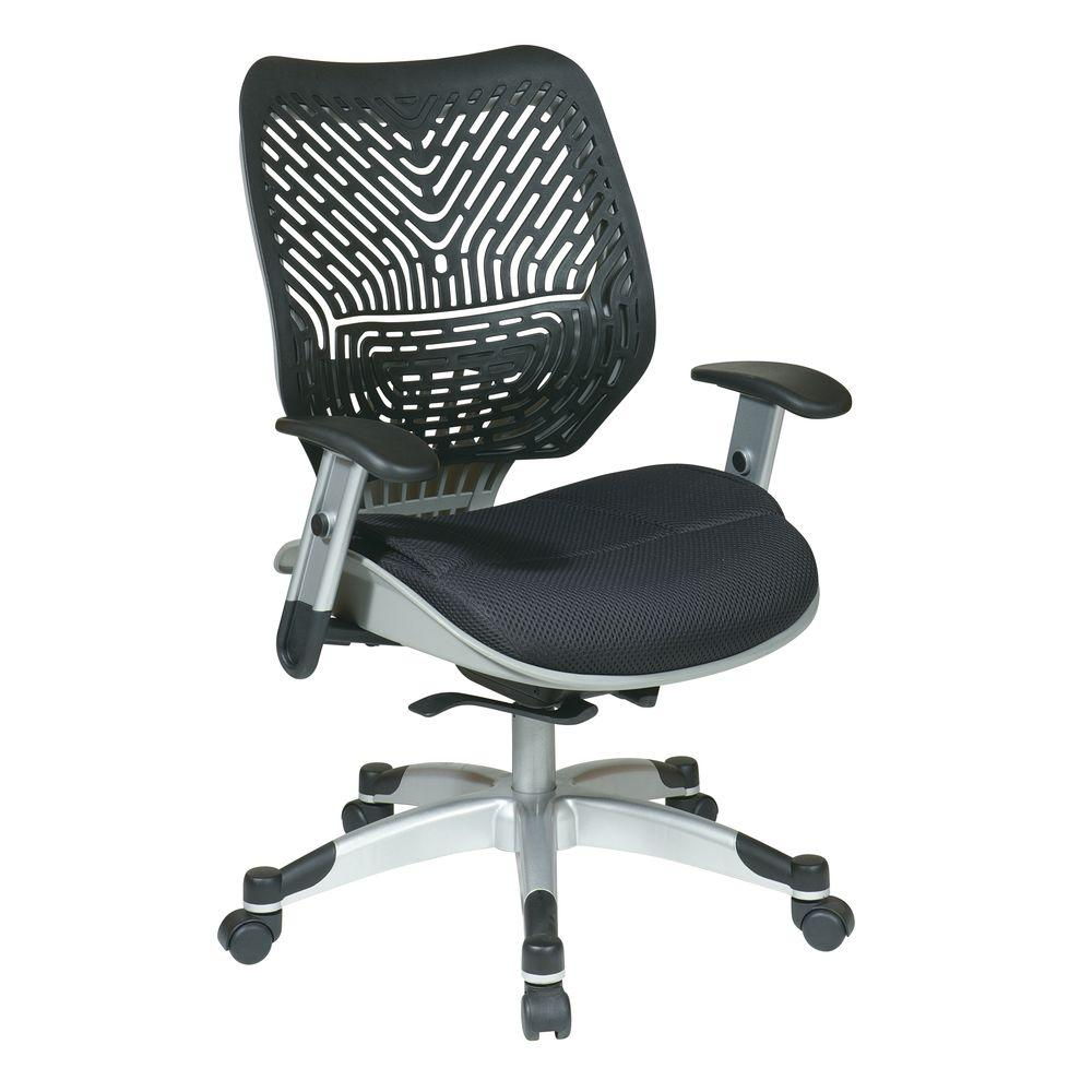 Space Seating Revv Black and Grey SpaceFlex Self Adjusting Manager Office Chair