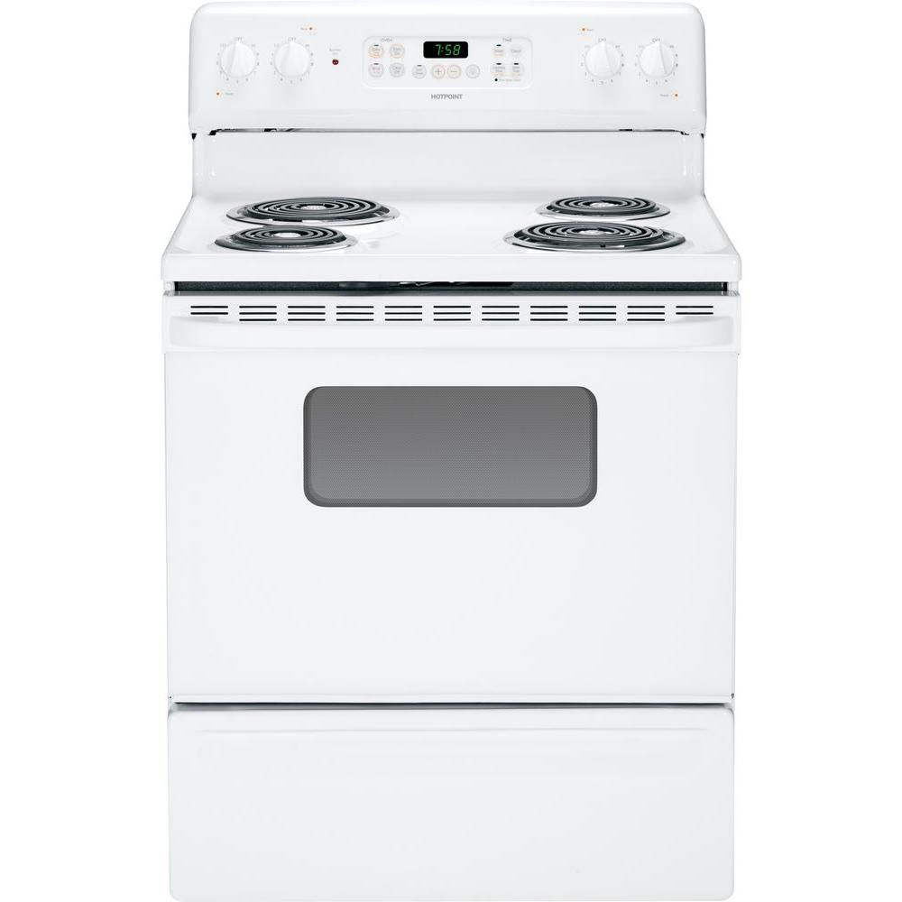 Hotpoint 5.0 cu. ft. Electric Range with Self-Cleaning Oven in White
