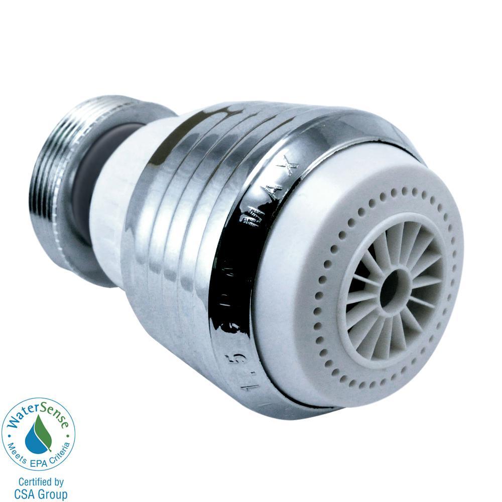 Niagara Conservation 1.5 GPM Kitchen Swivel Dual Spray Dual Thread Aerator