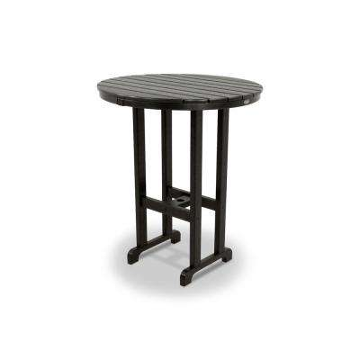 Monterey Bay Charcoal Black 36 in. Round Patio Bar Table