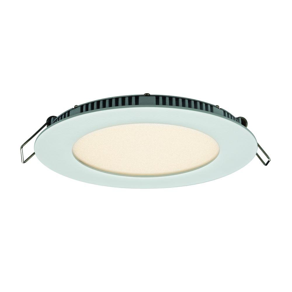 Illume Lighting 5 In White Integrated Led Recessed Kit