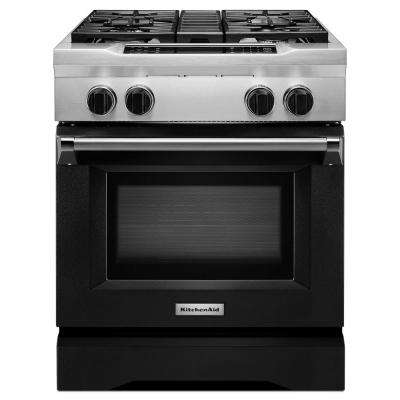 30 in. 4.1 cu. ft. Dual Fuel Range with Convection Oven in Imperial Black