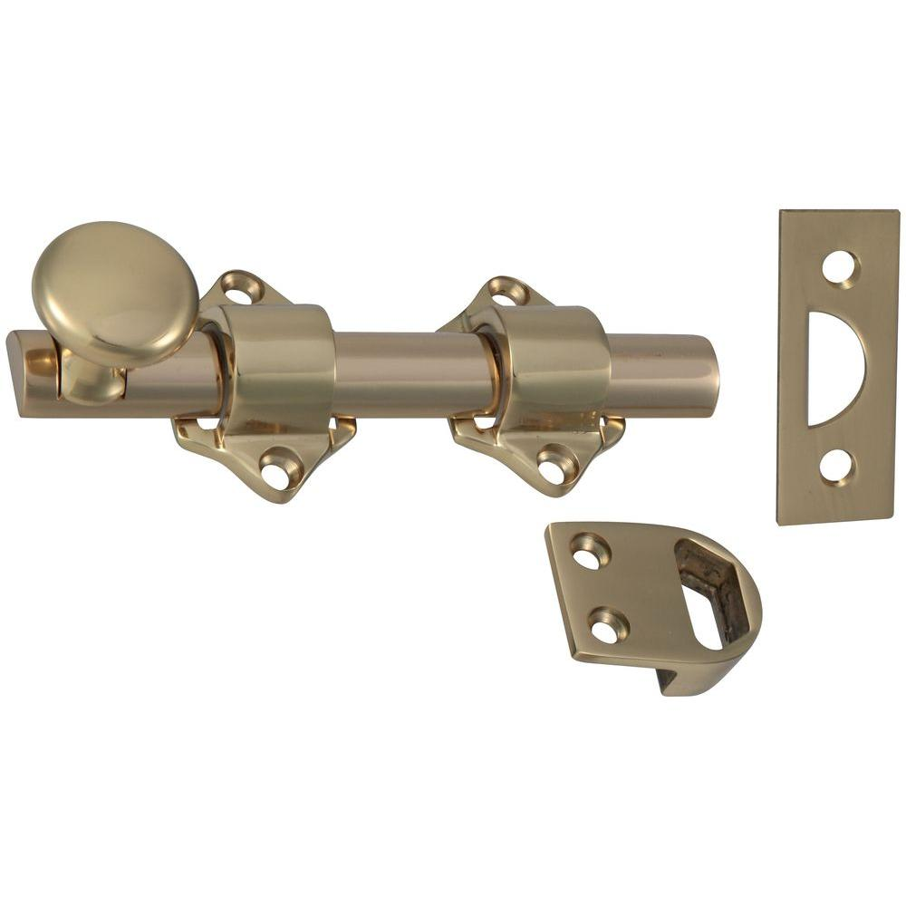 National Hardware Dutch Door Bolt in Solid Brass - National Hardware Dutch Door Bolt In Solid Brass-N198-028 - The Home