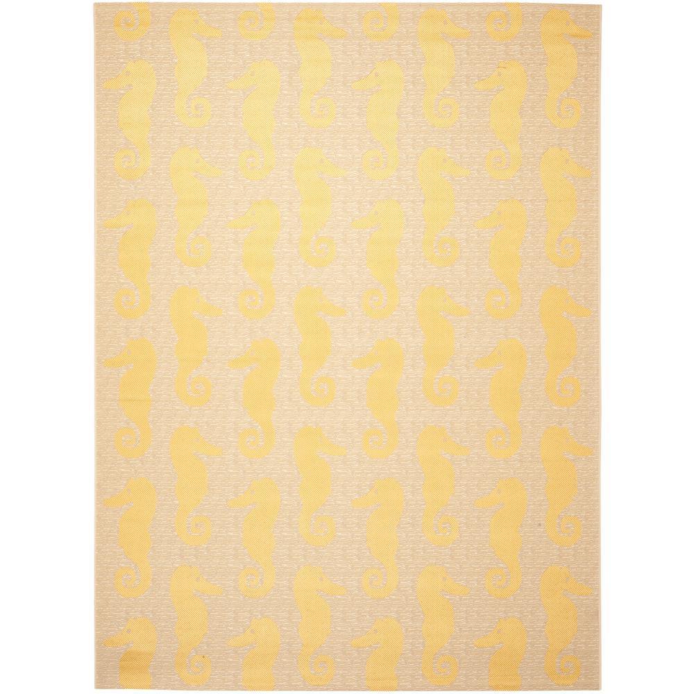Safavieh Courtyard Beige Yellow 8 Ft X 11 Ft Indoor