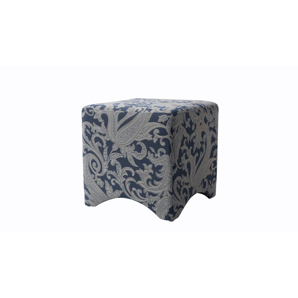 Isaac Dusty Blue Accent Cube