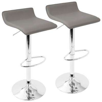 Ale Grey Adjustable Height Bar Stool (Set of 2)