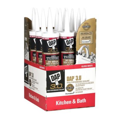 3.0 9.8 oz. White Kitchen, Bath and Plumbing High Performance Sealant (12-Pack)
