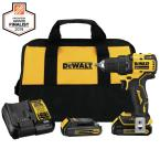 ATOMIC 20-Volt MAX Cordless Brushless Compact 1/2 in. Drill/Driver, (2) 20-Volt 1.3Ah Batteries, Charger & Bag