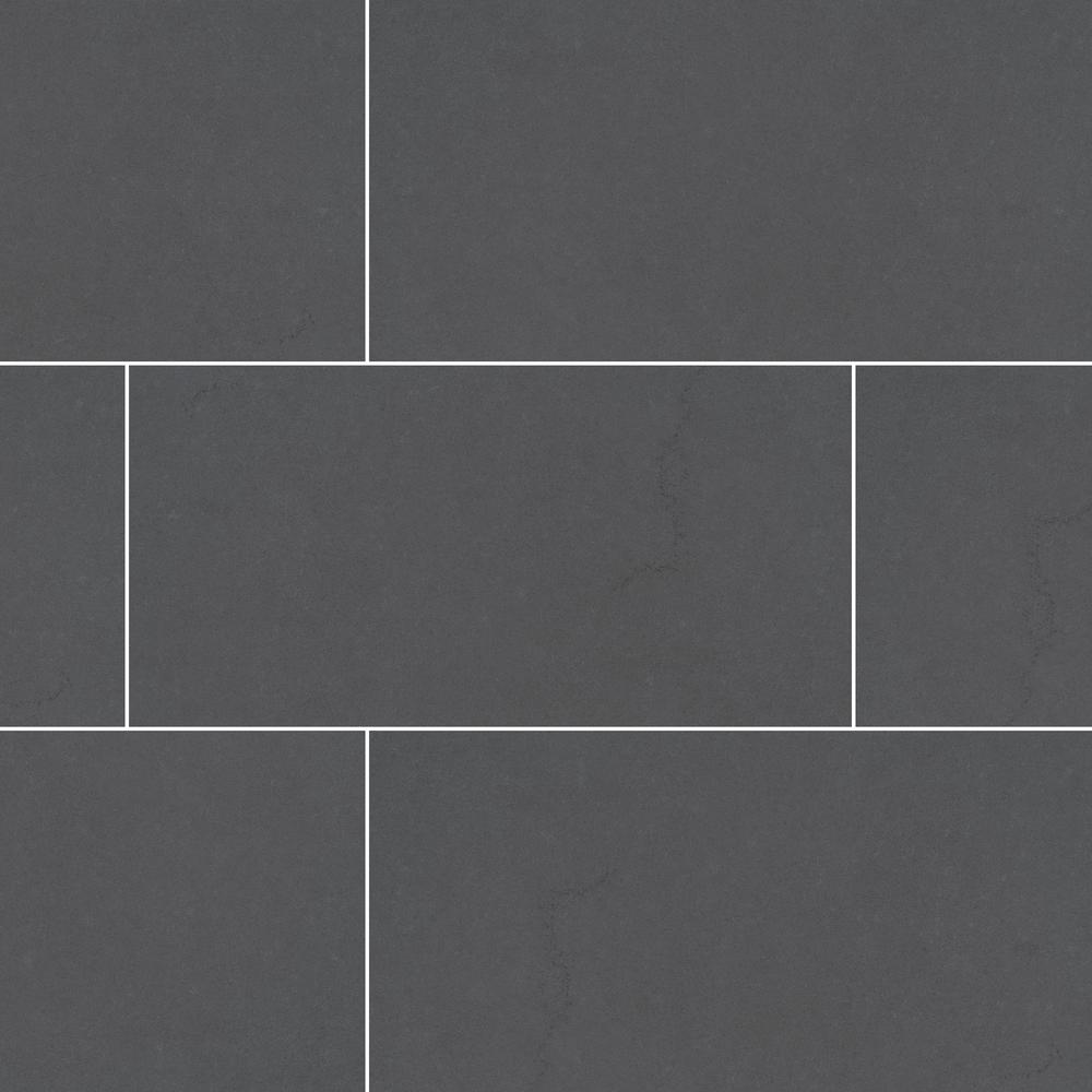 Beton Graphite 24 in. x 48 in. Matte Porcelain Floor and Wall Tile (6 cases / 96 sq. ft. / pallet)
