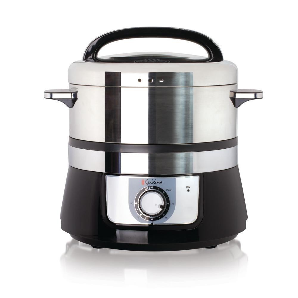 Kitchen Living Food Steamer: Euro Cuisine Electric Stainless Steel Food Steamer-FS3200