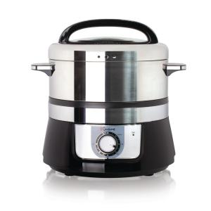 Electric 3.4 Qt. Stainless Steel Food Steamer and Rice Cooker