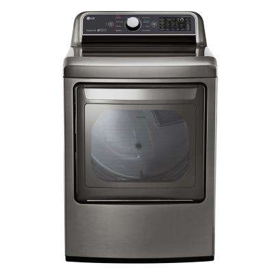 7.3 cu. ft. Graphite Steel Electric Vented Dryer with Rear Controls and EasyLoad Door