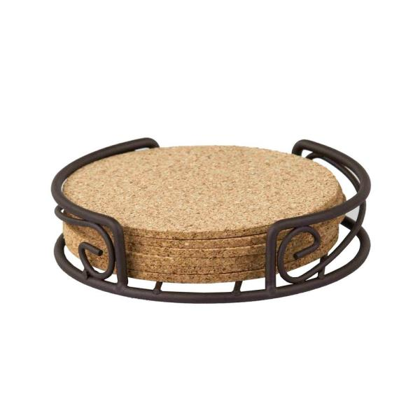 Home Basics Bronze Coaster Set