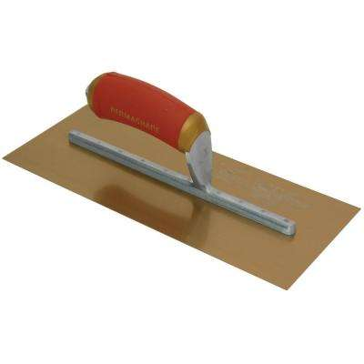 11 in. x 4-1/2 in. Golden Steel PermaShape Broken-In Finishing Trowel
