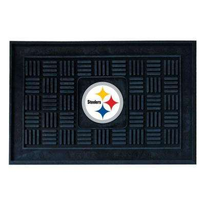 Pittsburgh Steelers 18 in. x 30 in. Door Mat