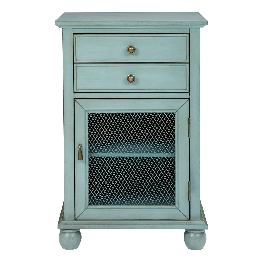 Osp Home Furnishings Alton Antique Steel Blue Fully Embled Storage Cabinet Bp Alt6595 Ym69 The Depot
