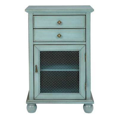 Alton Antique Steel Blue Fully Assembled Storage Cabinet