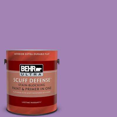 1 gal. #660B-6 Daylight Lilac Extra Durable Flat Interior Paint and Primer in One