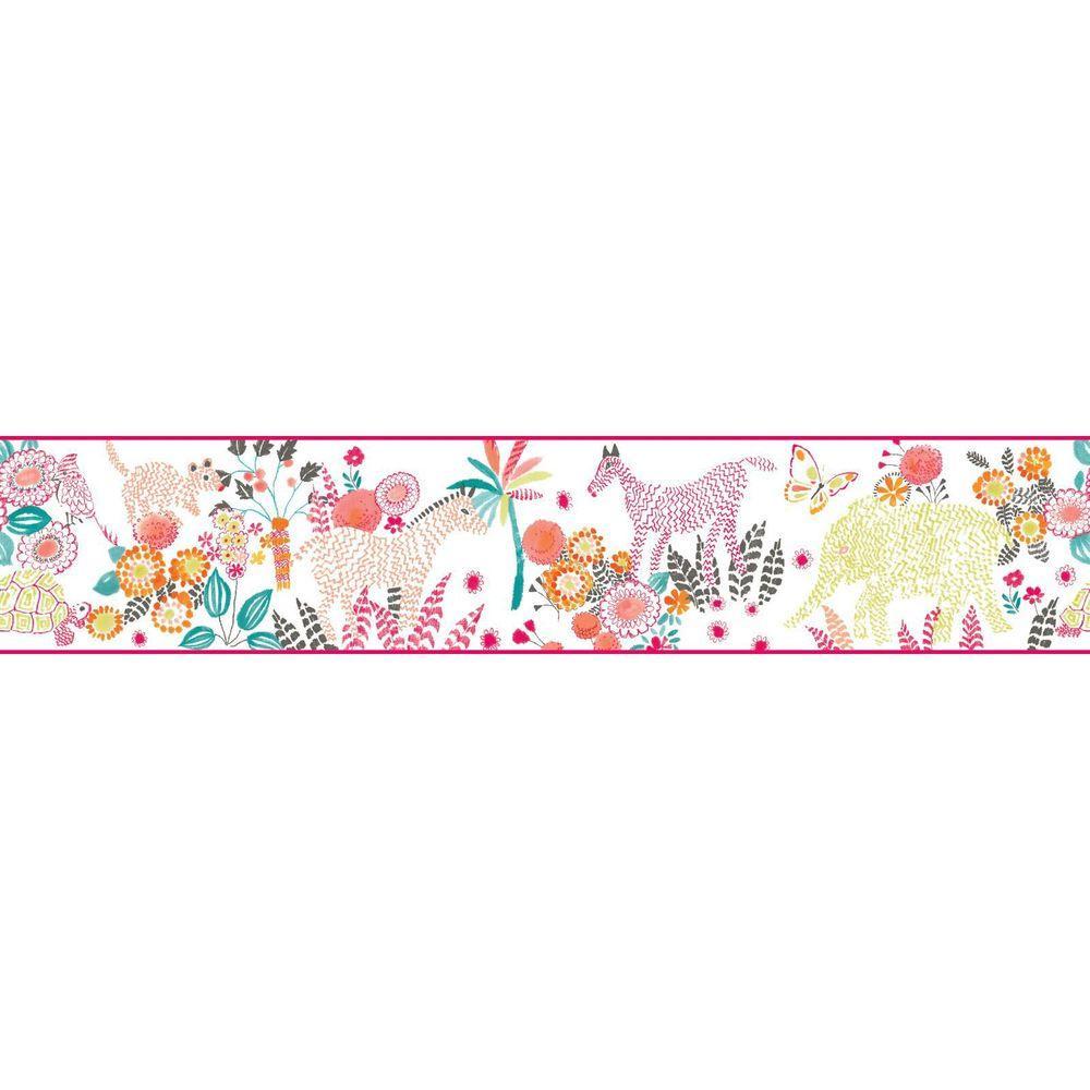 YORK Waverly Kids Day Dream Wallpaper Border, White