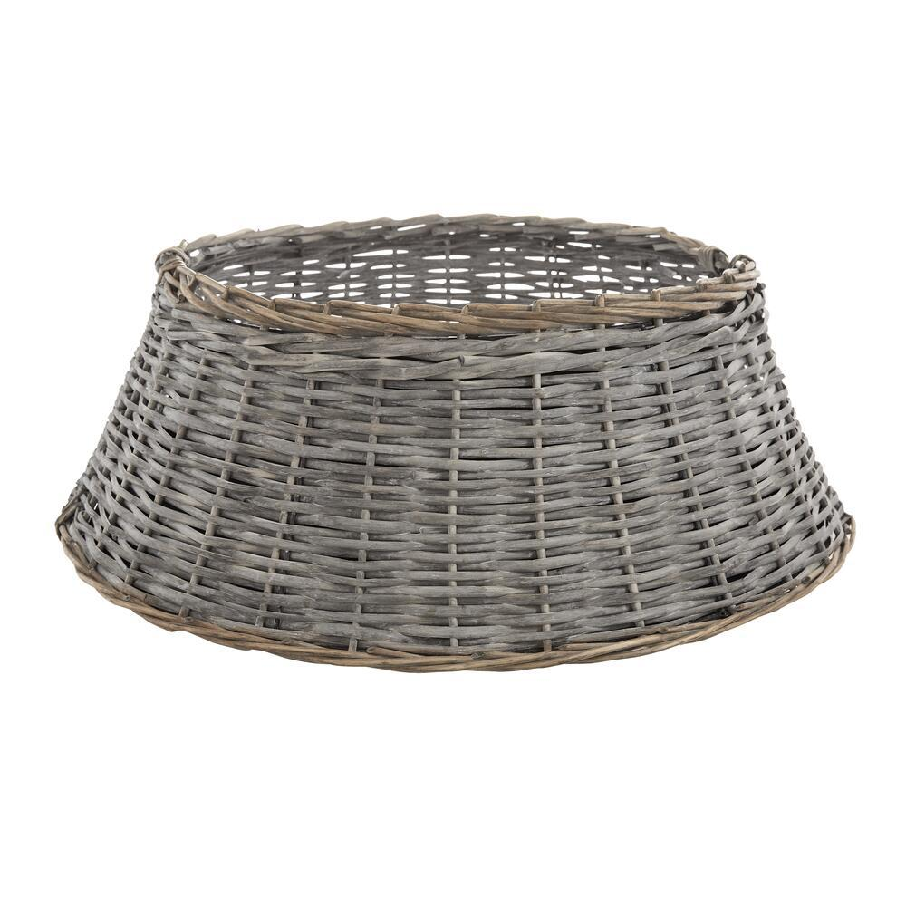 Rattan Wicker Xmas Tree Collar Basket Ring Base Stand Cover for Christmas Decoration BAYN Christmas Tree Collar Skirt