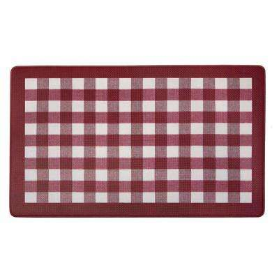 Buffalo Check Burgundy 18 in. x 30 in. Anti-Fatigue Mat