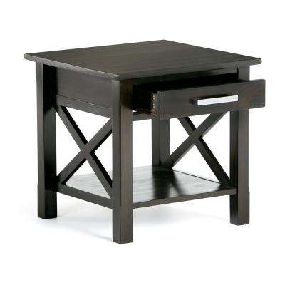 Kitchener Dark Walnut Storage End Table