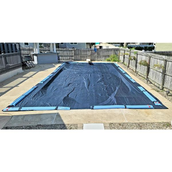Winter Block Winter Block 8 Year 20x40 Rectangular Blue In Ground Winter Pool Cover Wc2040re The Home Depot