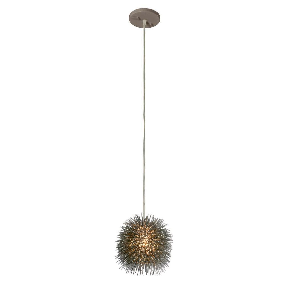 Varaluz Urchin 1-Light Chrome Uber Mini Pendant