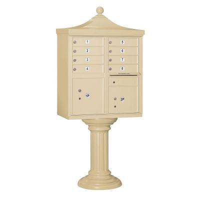 3300R Series Sandstone Private 8 A Size Doors Type I Regency Decorative Cluster Box Units