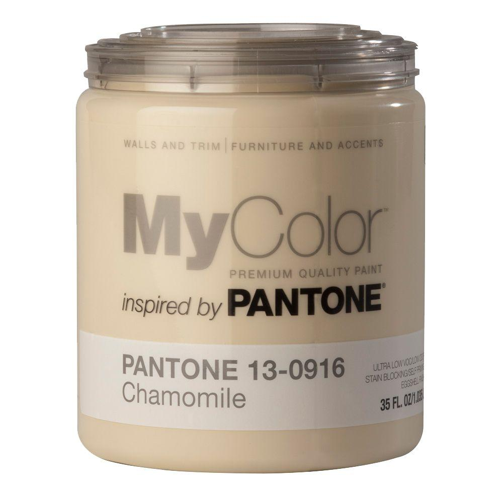 MyColor inspired by PANTONE 13-0916 Eggshell 35-oz. Chamomile Self Priming Paint-DISCONTINUED