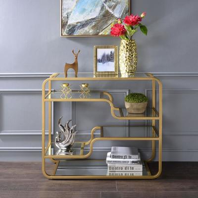 Astrid Gold and Mirror Sofa Table