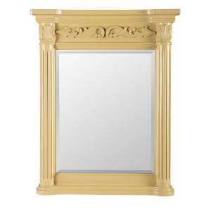 Belle Foret Estates 34 inch L x 28 inch W Wall Mirror in Antique White by Belle Foret