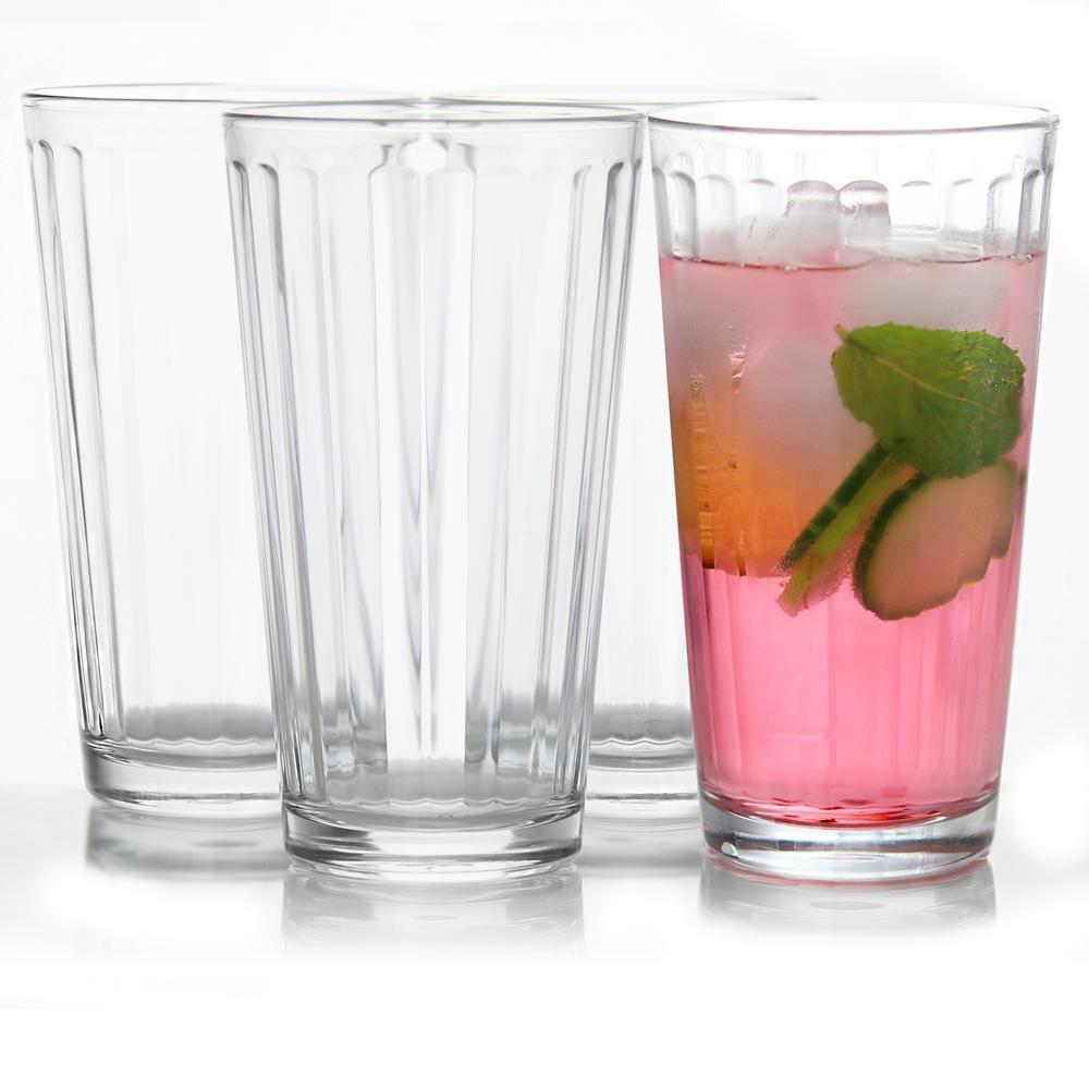 Optica 16.75 oz. Clear Cooler Glasses (4-Pack)