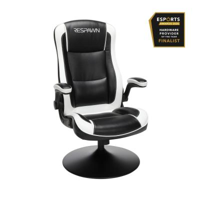 800 Racing Style Gaming Rocker Chair, Rocking Gaming Chair, in White (RSP-800-BLK-WHT)