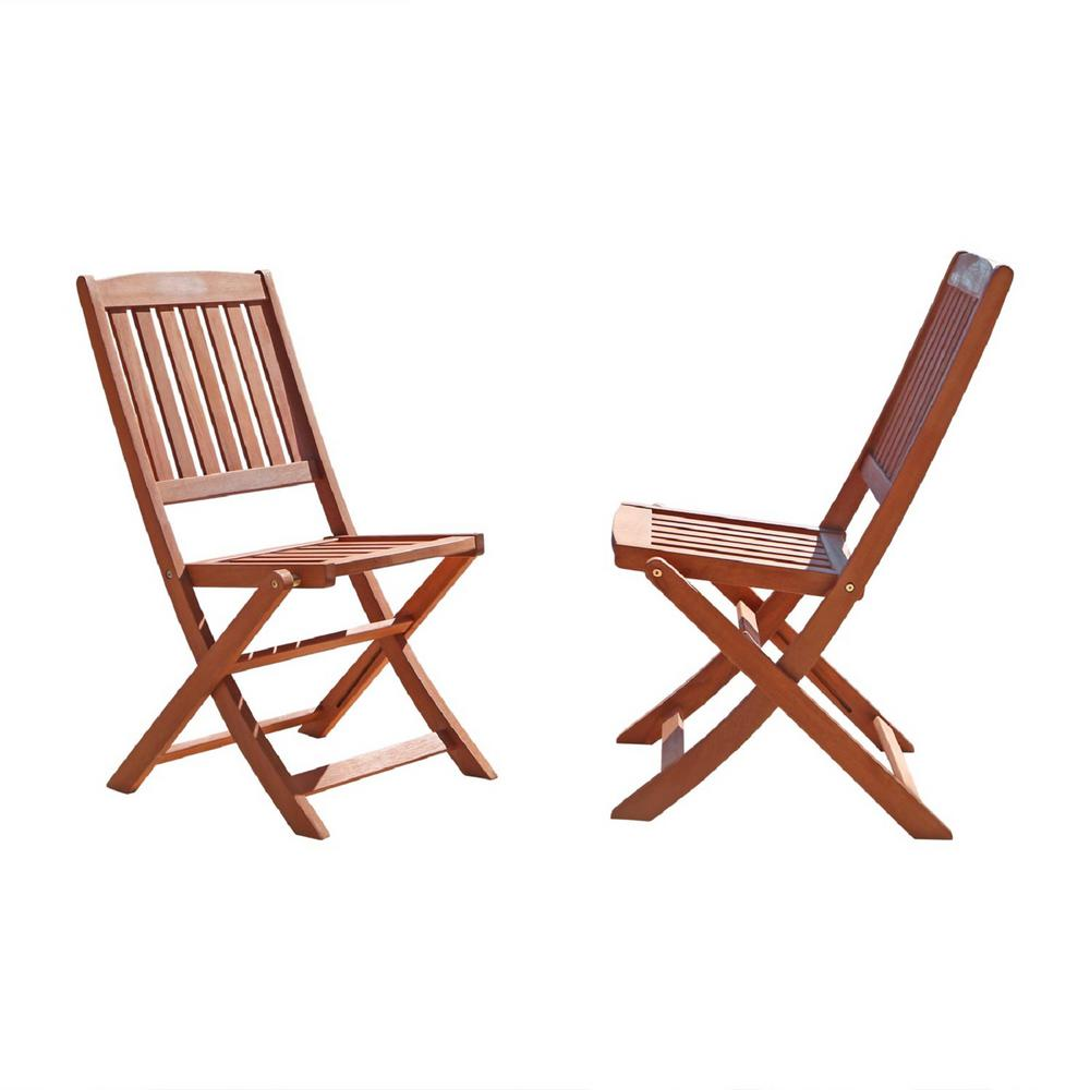 vifah malibu folding wood outdoor dining chair 2 pack. Black Bedroom Furniture Sets. Home Design Ideas