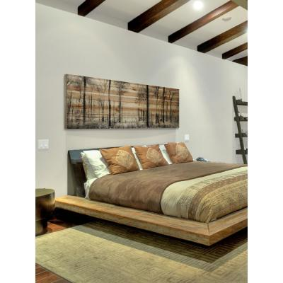 "20 in. H x 60 in. W ""Panoramic Forest"" by Parvez Taj Printed Natural Pine Wood Wall Art"