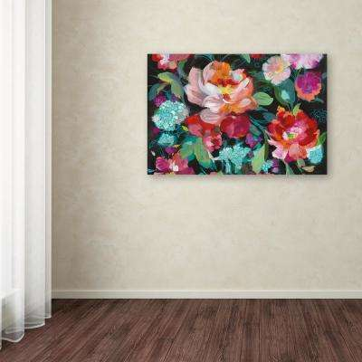 """30 in. x 47 in. """"Bright Floral Medley Crop"""" by Danhui Nai Printed Canvas Wall Art"""