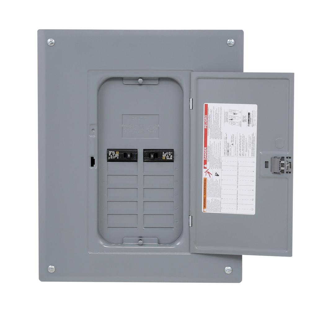 Square D 125-Amp 24-Circuit 12-Space Electric Main Breaker Load Center Panel  Box | eBay